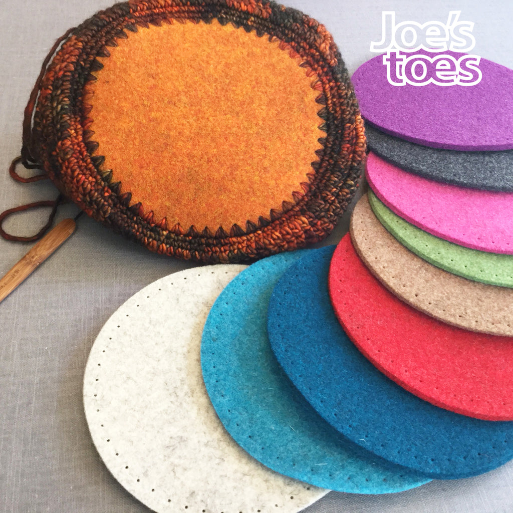 Joe's Toes Felt Bag or Bowl Base with Punch Holes