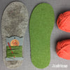 Joe's Toes Crossover Knitted Slipper kit - Turquoise Mix