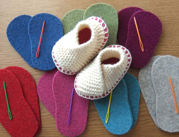 Baby Knitted Crossover Slipper Kit - Joe's Toes  - 7