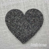 Joe's Toes big heart patch in charcoal grey thick wool felt with punched holes