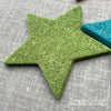 Joe's Toes big felt star patches green