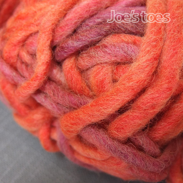 Super Chunky Slipper Yarn - Joe's Toes Coral Sky - 3