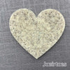 Joe's Toes big heart patch in light grey thick wool felt with punched holes