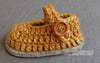 Mary-Jane Crochet Baby Shoe Kit - Joe's Toes Newborn size 0 / Golden with light grey sole - 4
