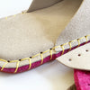 Joe's Toes luxe slipper kit in natural suede with crepe rubber soles stitch detail