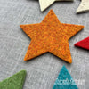 Joe's Toes big felt star patches marmalade orange
