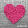 Joe's Toes big heart patch in fuchsia pink thick wool felt with punched holes