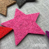 Joe's Toes big felt star patches fuchsia pink