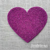 Joe's Toes big heart patch in purple thick wool felt with punched holes