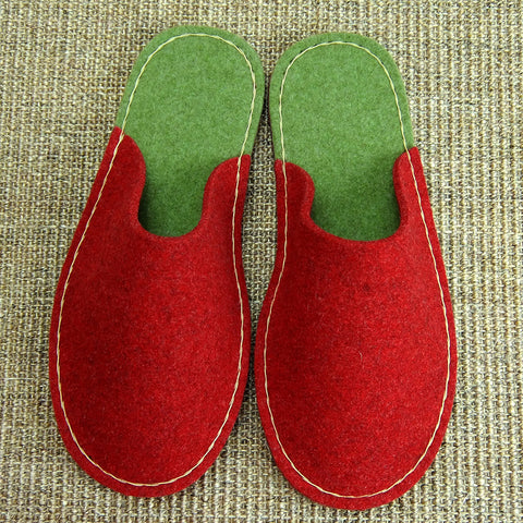 Festive Slipper in Wool Felt