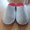 Grey & Red Felt Slipper - Suede Sole - Joe's Toes  - 2