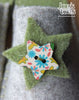 Grey & Green Felt Slipper - Star and Button - Joe's Toes  - 2