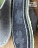 Grey & Green Felt Slipper - Star and Button - Joe's Toes  - 3
