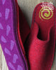 Red Felt Slipper - Yellow Swirl - Joe's Toes  - 2