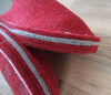 Simple Red Felt Slipper - Joe's Toes side view