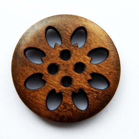 Wooden Buttons - carved