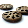 Wooden Buttons - carved - Joe's Toes  - 3