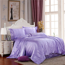 Load image into Gallery viewer, 100% pure satin silk bedding set