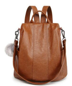 Genuine Leather Women's Backpack
