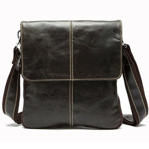 Men'S  Casual Leather Messenger Bag