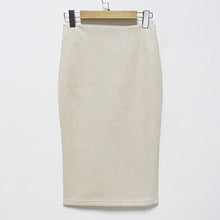 Load image into Gallery viewer, Women's High Waist Suede Skirt
