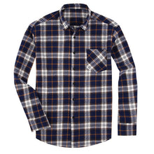 Load image into Gallery viewer, 100% Cotton Flannel Men's Plaid Shirt