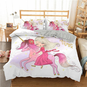 2/3pc 3D Bedding Set Cartoon