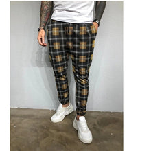 Load image into Gallery viewer, Men's plaid 3D digital print sport pants