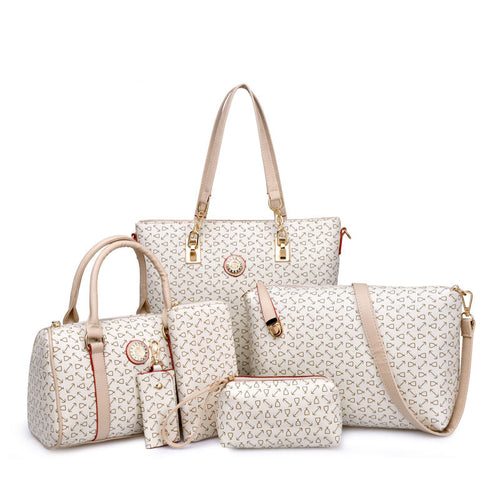 Women's Bone Pattern Six Pieces Bags