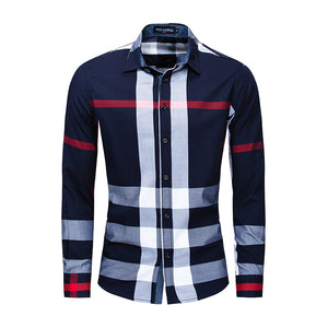Men's Fashion New Plaid Shirt