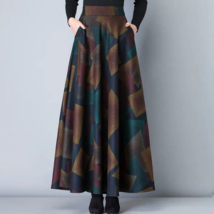 High Waist Woolen Skirts