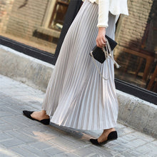 Load image into Gallery viewer, Women's Chiffon Pleated Long Skirt