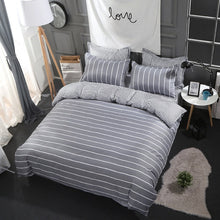 Load image into Gallery viewer, Classic grey stripe bedding set