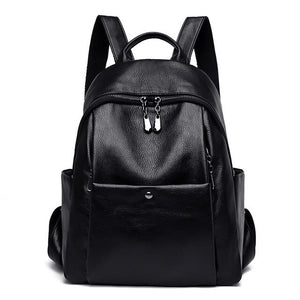 New 100-capacity Leather Backpack Bag