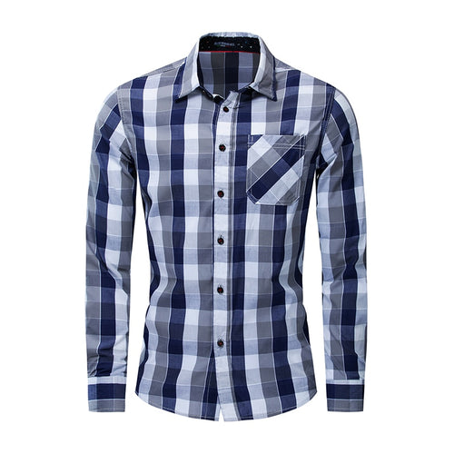 Men's Casual Business Long-sleeved Slim Shirt