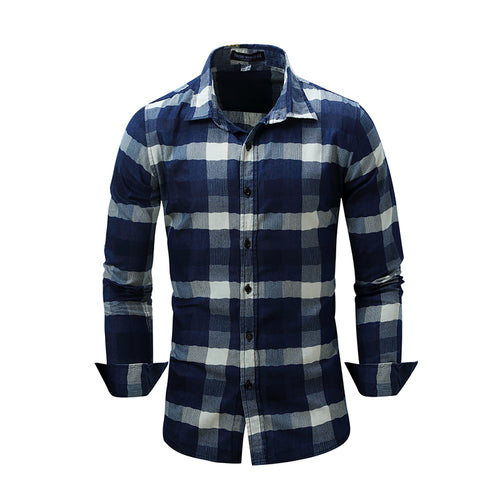 Men's 100% Cotton Casual Long-sleeved Shirt