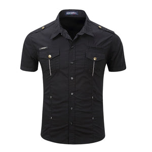Short Sleeve Military Wind Shirt