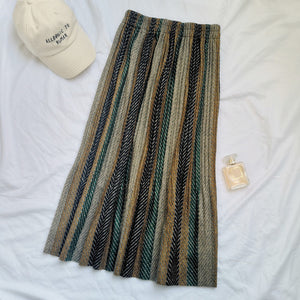 Women's Pleated Long Knitted Skirt