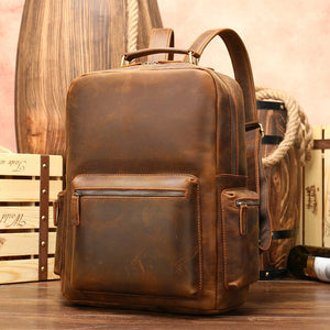 100% Genuine Leather Business Backpack