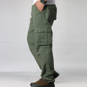 Men Army Straight slacks Long Trousers