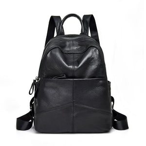 women's genuine leather backpack bag