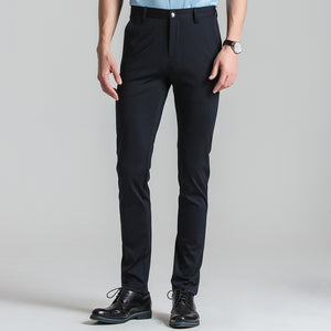 Men's Stretch Black Dress Pants