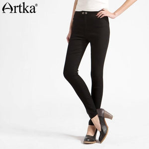 Women's Trousers Casual Black Pants