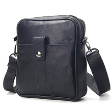Load image into Gallery viewer, Fashion Cow Leather Black Messenger Bags