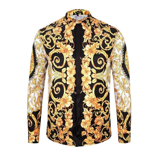 Men's Printing Long Sleeve Shirts