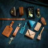 Beginner Leather Craft Workshop Coin Pouch Luggage Tag Cardholder Leather Tray