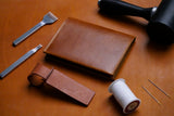 Stitching Leather Craft Workshop Passport Holder Passport Sleeve Luggage Tag