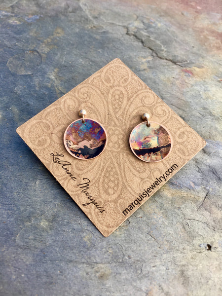 "Rose Gold ""Bitty"" Post Earrings"