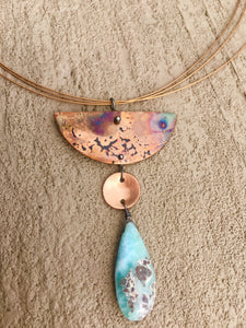 Halfmoon with Larimar Necklace