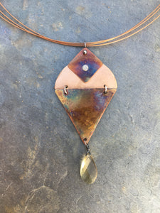 Summer Solstice Sunset Necklace, Made for 2020 summer shows :(